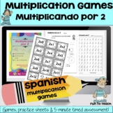 Multiplicando Por 2 - Spanish Multiplication Math Games/Le