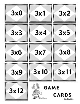 Multiplicando Por 3 - Spanish Multiplication Math Games/Lesson Plans