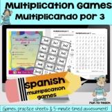 Multiplicando Por 3 - Spanish Multiplication Math Games/Le