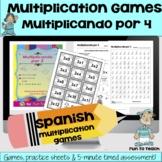 Multiplicando Por 4 - Spanish Multiplication Math Games/Le