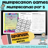 Multiplicando Por 5 - Spanish Multiplication Math Games/Le