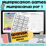 Multiplicando Por 7 - Spanish Multiplication Math Games/Le