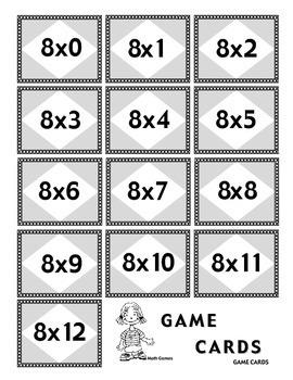 Multiplicando Por 8 - Spanish Multiplication Math Games/Lesson Plans