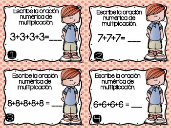 Multiplicando Sumas Repetidas y Matrices/ Multiplying with Addition and Arrays