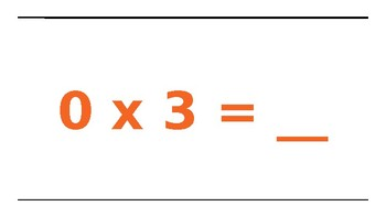 Multiplication Facts 0's, 1's, 2's and Movement