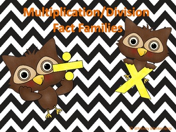 Multiplicatino/Division Fact Family Center