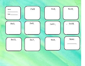 Multiplication 0-12