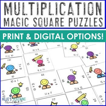Multiplication Math Centers | Multiplication Games | Multiplication Facts