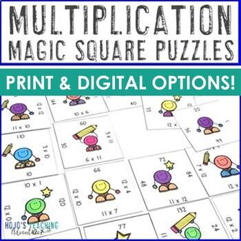 Multiplication Games for Math Centers, Stations, or Worksheet Alternatives