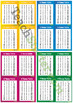 Multiplication 0 – 12 Times Tables – 4 Per Page