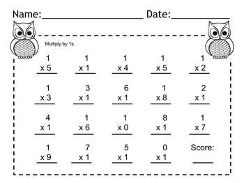 Multiplication 0-9