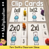 Multiplication 0 to 12 Facts Clip Cards Polar Bear Themed Math Centers