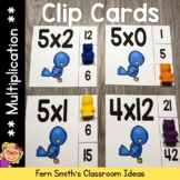 Multiplication 0 to 12 Facts Clip Cards Spring Bird Themed Math Centers