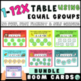 Multiplication Math Fact Fluency: Equal Groups Boom Cards