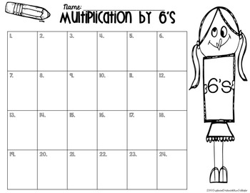 Multiplication 1-12 BUNDLE