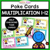 Multiplication (1-12) Poke Cards