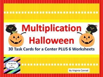 Multiplication 1 Digit X 1 Digit---Halloween