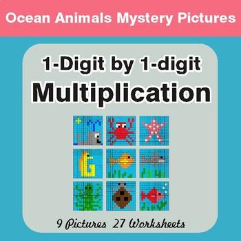 Multiplication: 1-Digit by 1-Digit - Color-By-Number Myste