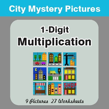 Multiplication: 1-Digit by 1-Digit - Color-By-Number Math Mystery Pictures