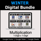 Multiplication 1-Digit by 1-Digit - Digital Winter Math Bundle