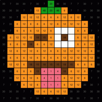 Multiplication 1-Digit by 1-Digit - EMOJI PUMPKIN Mystery Picture - Google Forms
