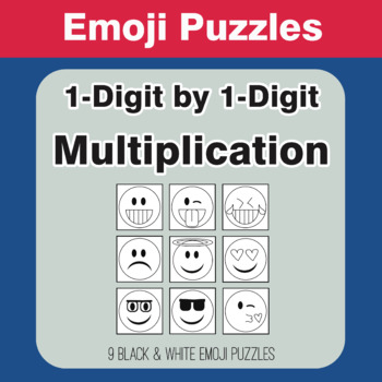 Multiplication: 1-Digit by 1-Digit - Emoji Picture Puzzles