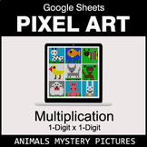 Multiplication 1-Digit by 1-Digit - Google Sheets Pixel Ar