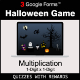 Multiplication 1-Digit by 1-Digit | Halloween Decoration G