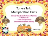 Multiplication 1 Digit by 1 Digit--Thanksgiving Theme