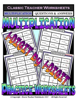 1-Digit by 1-Digit Multiplication Vertical/Horizontal Form-Gr. 3-4 (3rd-4th Gr.)