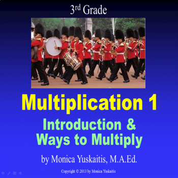 3rd Grade Multiplication 1 - Introduction & Ways to Multiply Powerpoint Lesson