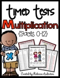 Multiplication Timed Tests - 3 different tests per fact