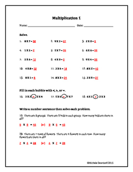 Multiplication 1: Test Your Skills!
