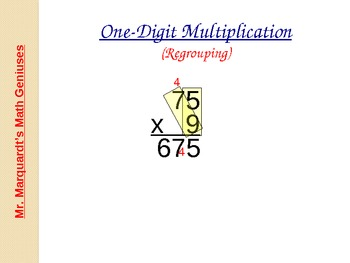 Multiplication - 1 digit x 2 digit