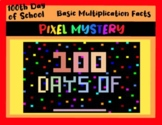 Multiplication 100th Day of School Digital Mystery Pixel Picture
