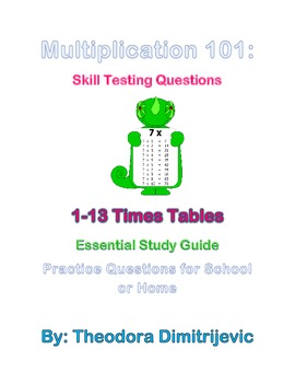 Multiplication 101: Skill Testing Questions and Word Problems