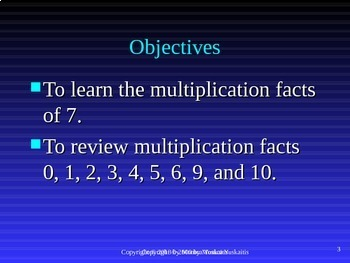 Common Core 3rd - Multiplication 11 - Multiplying 7 and Review
