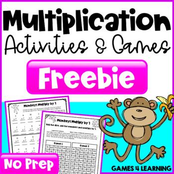 Multiplication Free NO PREP Multiplication Games
