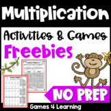 Free NO PREP Multiplication Games for Fact Fluency