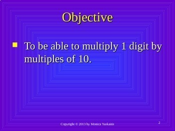 Common Core 3rd - Multiplication 13 - Multiplying 1 Digit x Multiples of 10