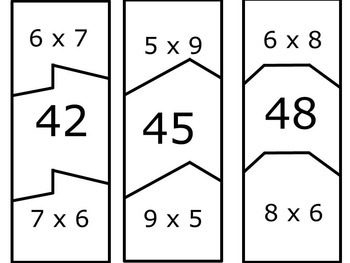 Multiplication Facts: Multiplication Puzzles for Multiplication Facts Practice