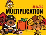 Multiplication Worksheets - Thanksgiving