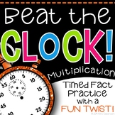 "Multiplication Facts Practice - A ""Beat the Clock"" Activity for Fact Fluency"