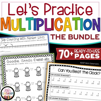 Multiplication Worksheets 3rd Grade Fact Practice Word Problems