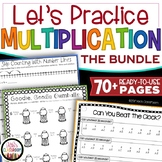Multiplication Worksheets + Multiplication Game for Math Facts Practice