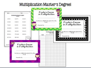 Multiplication Activities, Games, Posters