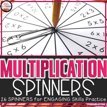 Multiplication Spinners - Activity for Multiplication Centers & Fact Practice