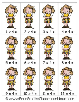 A Quick and Easy to Prep Multiply By Four Center Game
