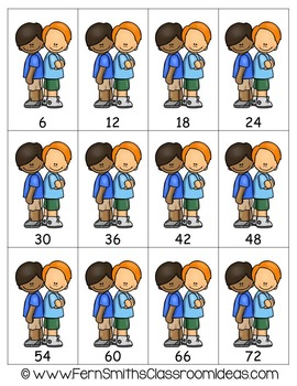 Multiplication A Quick and Easy to Prep Center Game for Multiply By Six