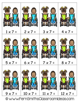 Multiplication A Quick and Easy to Prep Center Game for Multiply By Seven